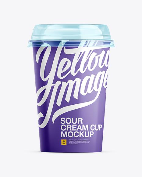 Sour Cream Cup Mockup