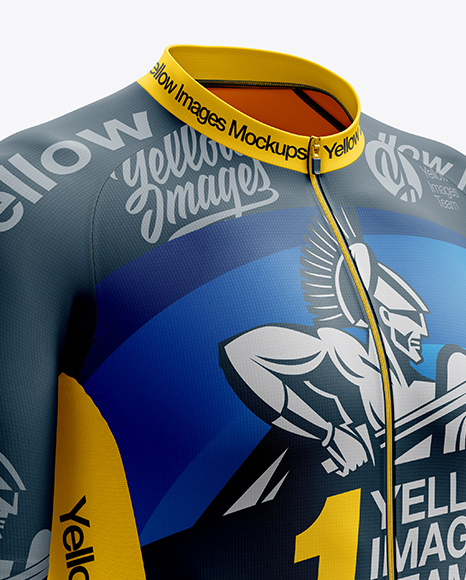 Men's Cycling Speed Jersey mockup (Right Half Side View)