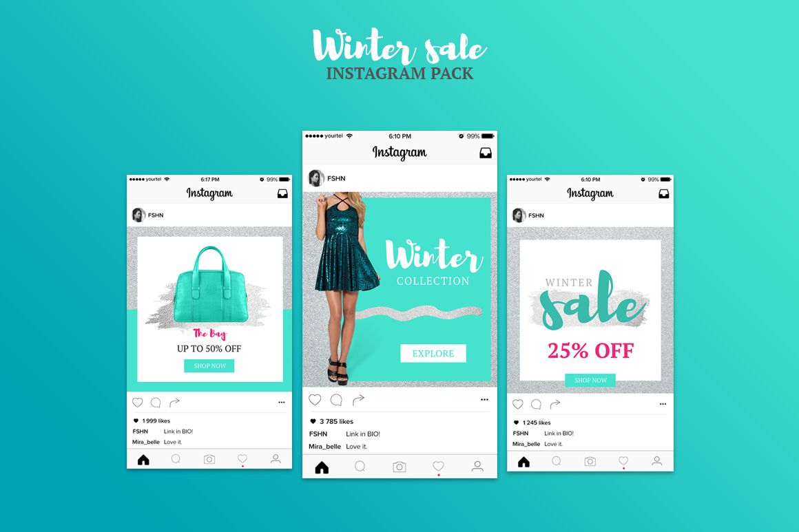 WinterSale | Instagram Pack