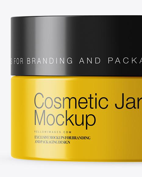 15ml Glossy Cosmetic Jar Mockup