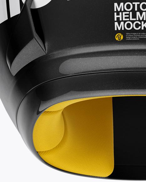 Moto GP Helmet Mockup - Back View