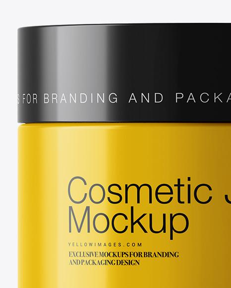 50ml Glossy Cosmetic Jar Mockup