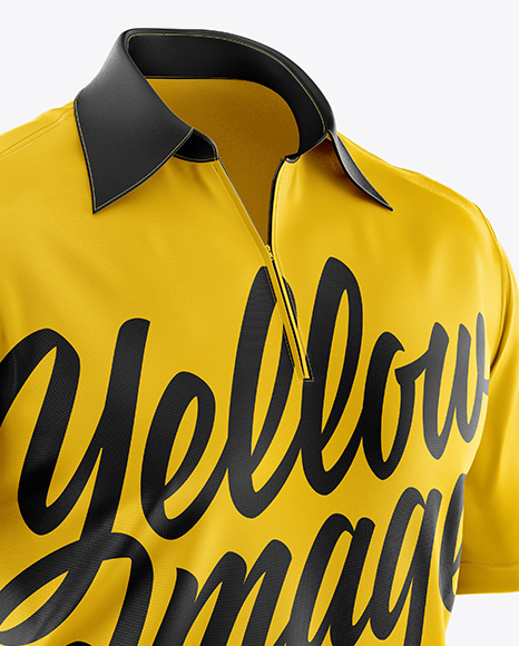 Download Mens Polo Hq Mockup Back View Yellow Images