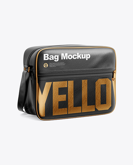 Download Leather Bag Mockup Half Side View Yellowimages