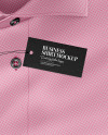 Folded Shirt With Label Mockup - Top View