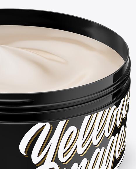 Download Metallic Cosmetic Jar Mockup Front View High Angle Shot PSD - Free PSD Mockup Templates