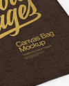 Canvas Bag Mockup - Top View (Half Side)