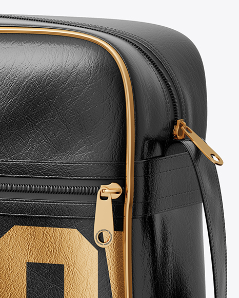 Shoulder Bag Mockup - Half Side View