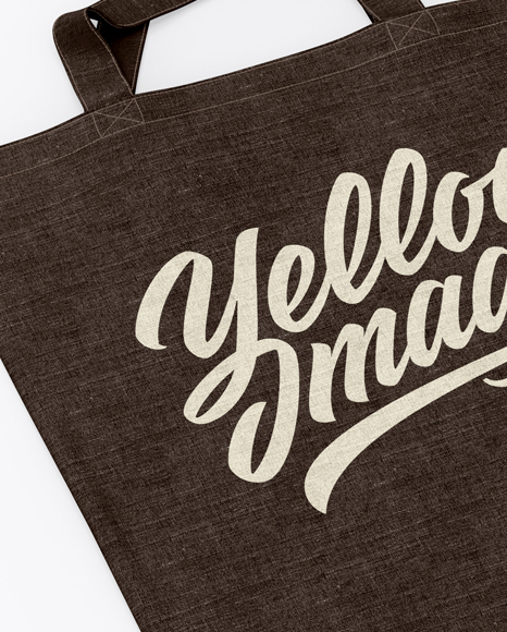 Two Canvas Bags Mockup - Top View (Half Side)