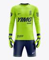 Men's Full Soccer Goalkeeper Kit mockup (Front View)