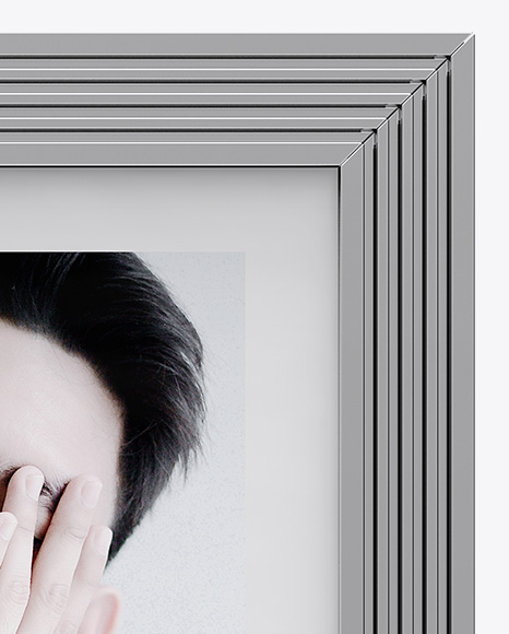 Metallic Photo Frame Mockup