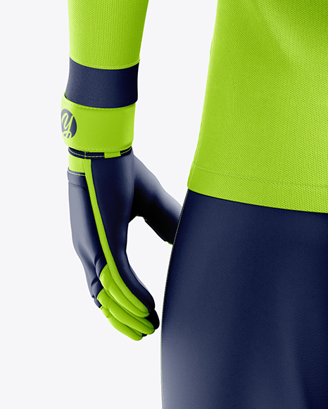 Men's Full Soccer Goalkeeper Kit mockup (Back View)