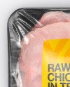 Tray With Raw Chicken Mockup - Top View