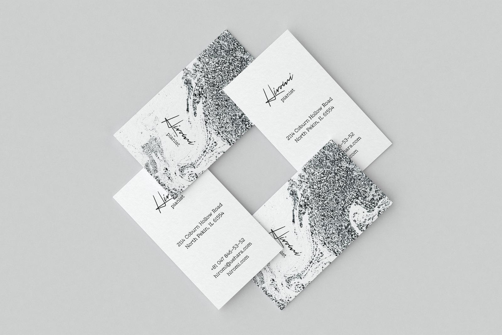 Hiromi. Business card template
