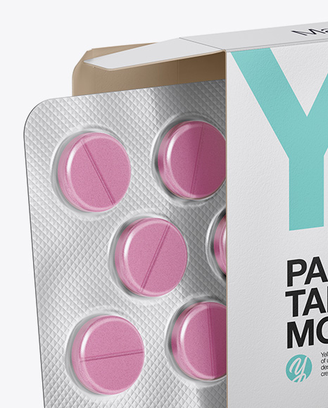 Download Paper Box With Tablets Mockup PSD - Free PSD Mockup Templates