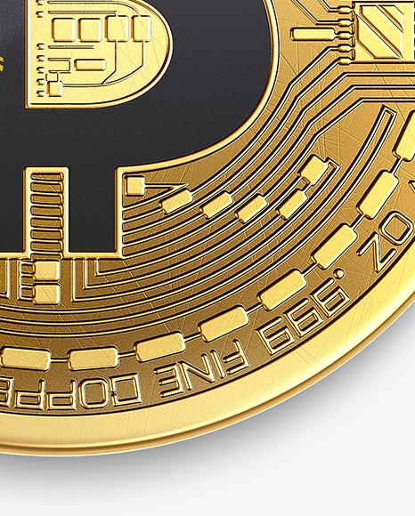 Golden Bitcoin Mockup
