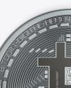 Silver Bitcoin Mockup