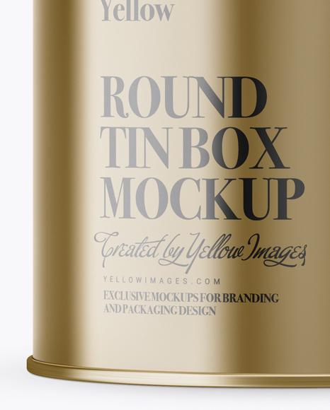 Download Matte Metallic Round Tin Box Mockup In Box Mockups On Yellow Images Object Mockups PSD Mockup Templates