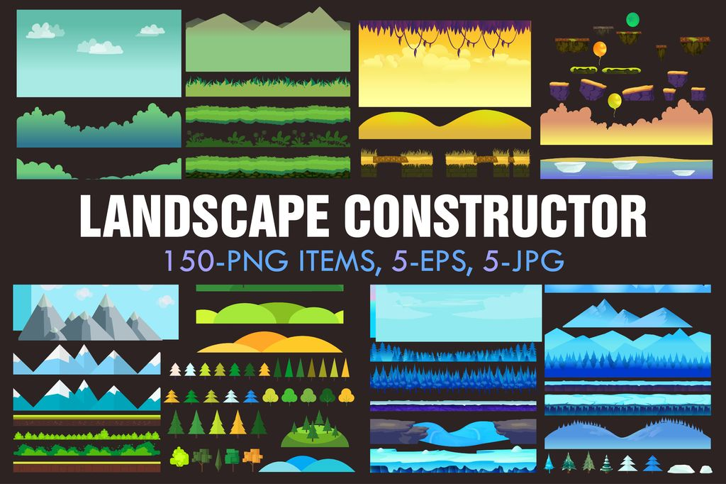 Landscape Constructor Vector