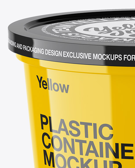 Download Glossy Plastic Container Mockup High Angle Shot PSD - Free PSD Mockup Templates