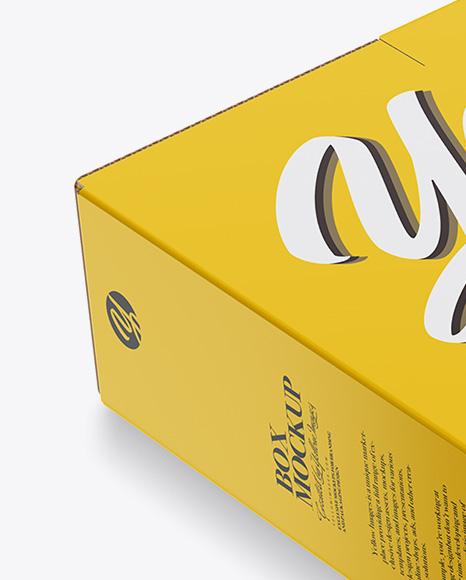 Download Glossy Box With Handles Mockup Half Side View PSD - Free PSD Mockup Templates