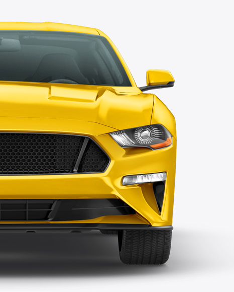 Mustang GT Mockup - Front view