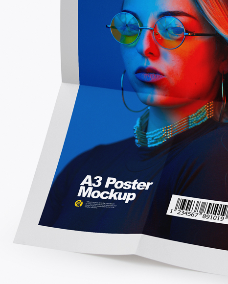 A3 Poster in a Hand Mockup