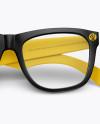 Transparent Glasses Mockup - Front view