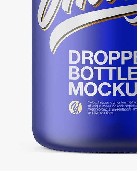 50ml Frosted Blue Glass Dropper Bottle
