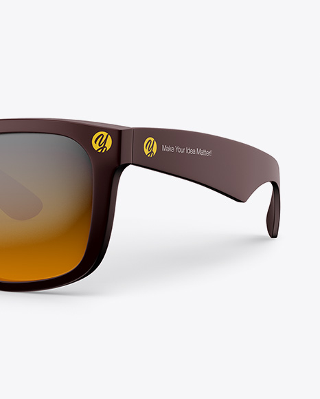 Sunglasses Mockup - Half Side View