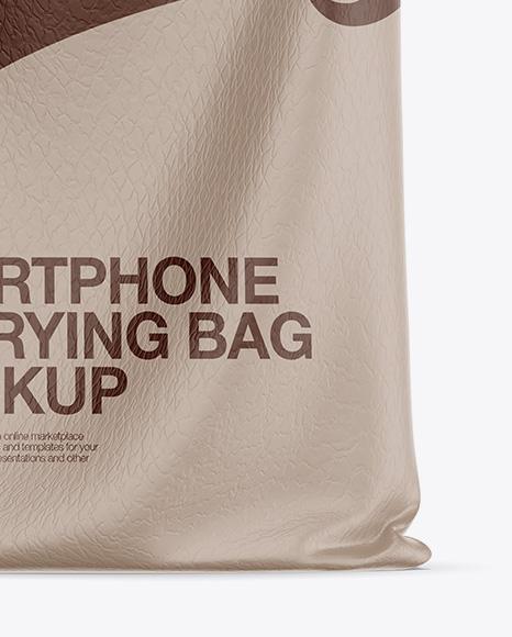 Leather Smartphone Carrying Bag Mockup