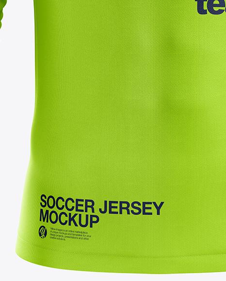 Men's Soccer Jersey LS mockup (Front View)