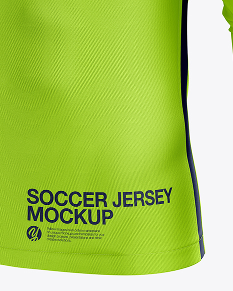 Men's Soccer Jersey LS mockup (Half Side View)
