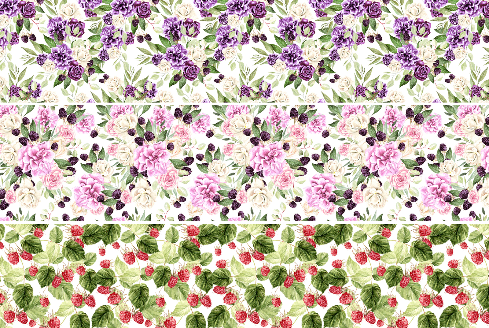 Hand Drawn Watercolor Flowers 64 PNG&VECTOR
