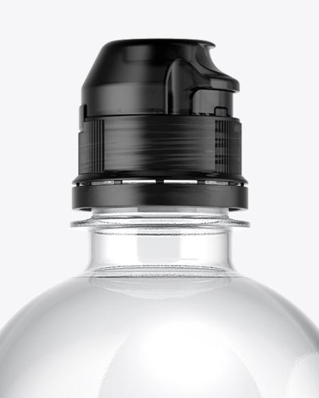 Water Bottle with Sport Cap Mockup