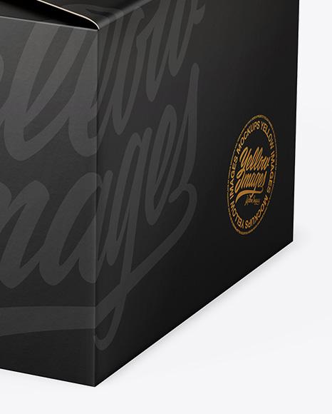 Paper Box Mockup - Half Side View (High Angle Shot)