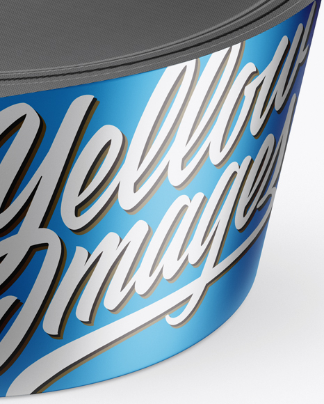 Matte Metallic Yogurt Cup Mockup (High-Angle Shot)