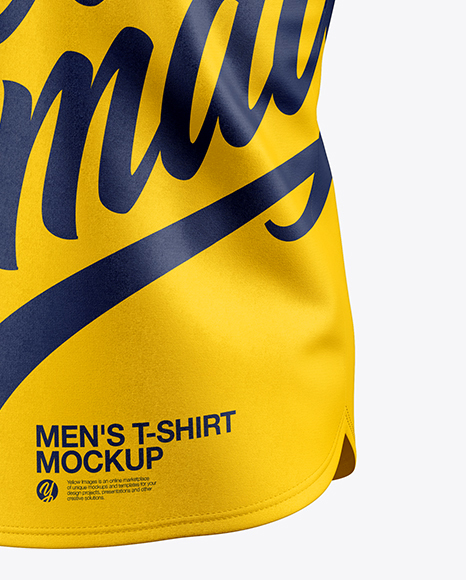 Men's Baseball T-Shirt Mockup - Half Side View
