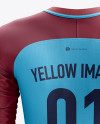 Men's Soccer Team Jersey LS mockup (Back View)