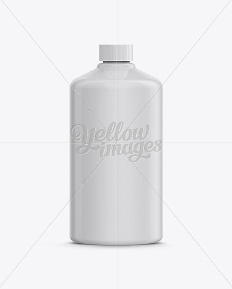 Download Round Plastic Bottle Mockup High Angle Shot In Bottle Mockups On Yellow Images Object Mockups PSD Mockup Templates