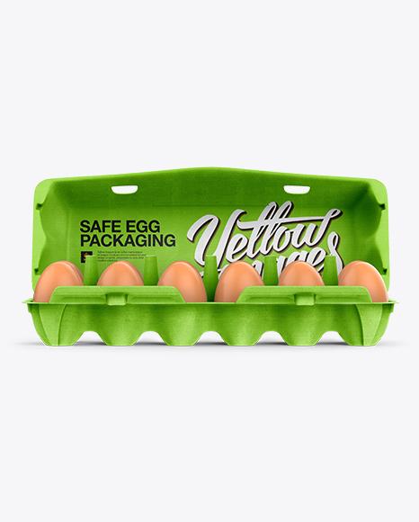 Open Egg Carton Mockup