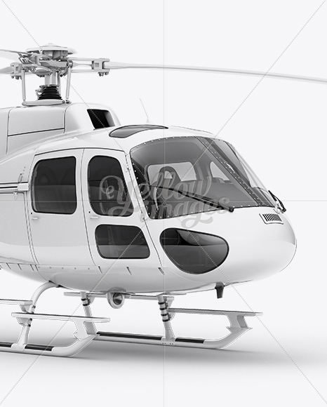 Eurocopter AS350 Mockup Front 3/4 View