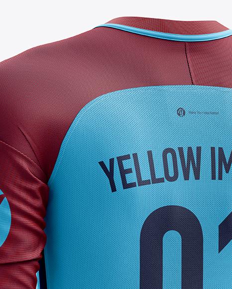 Download Mens Full Soccer Goalkeeper Kit Mockup Hero Back Shot Yellowimages