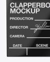 Glossy Clapperboard Mockup - Front View