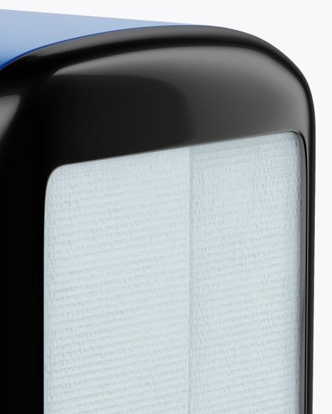 Napkin Dispenser Mockup - Half Side View