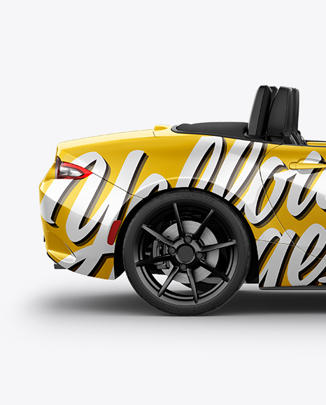 Cabriolet Mockup - Side View