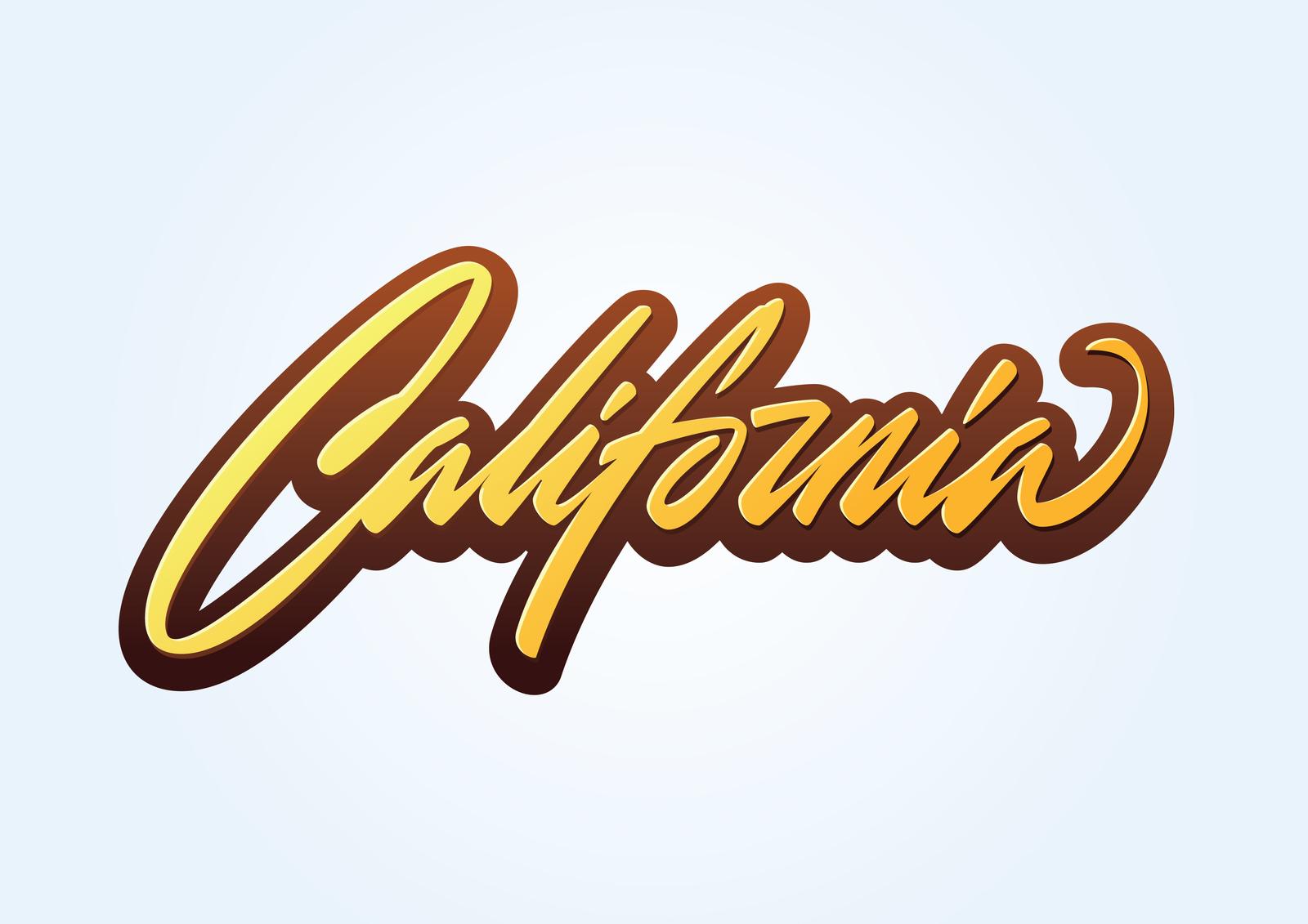 California brush script lettering