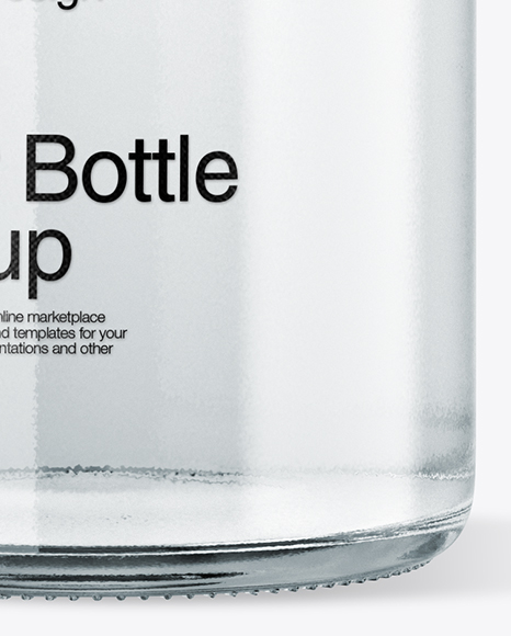 Clear Glass Water Bottle W/ Clamp Lid Mockup