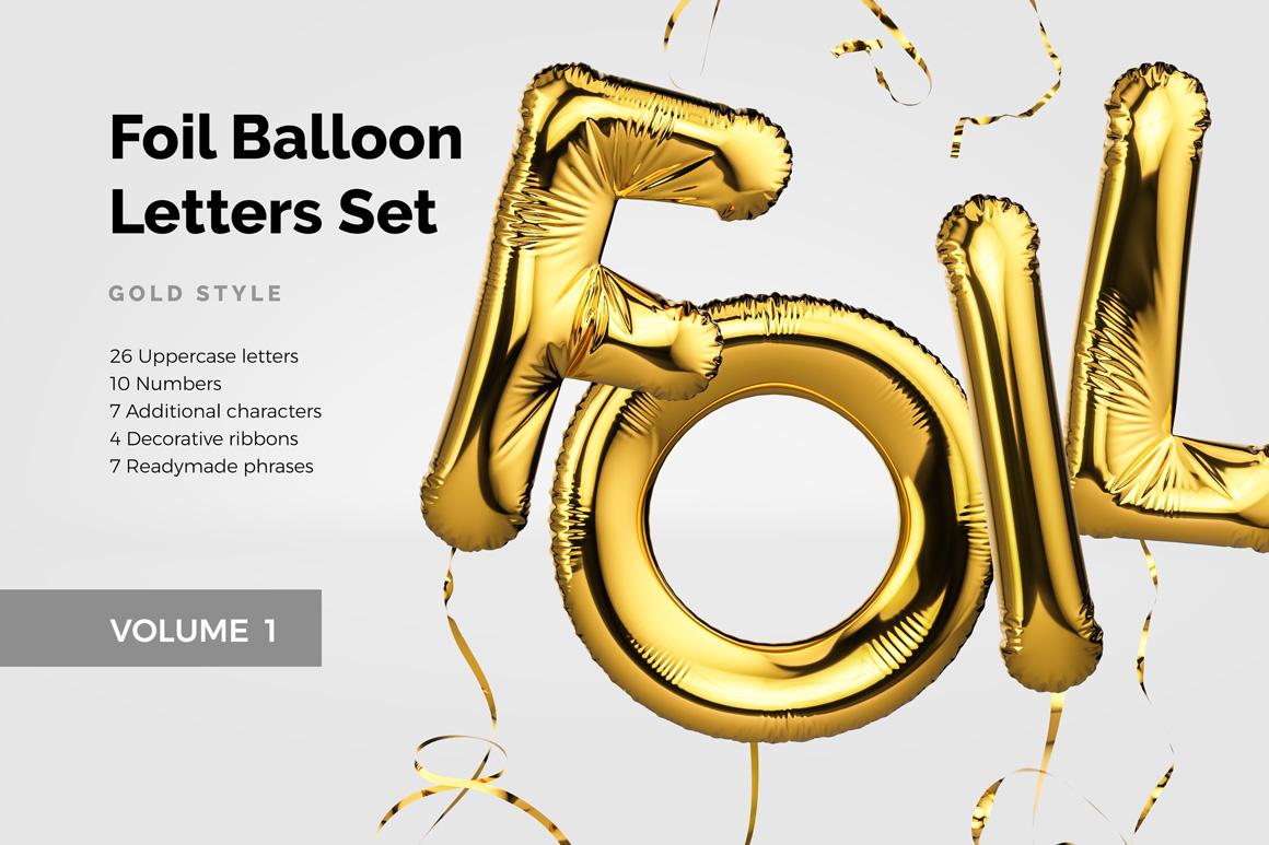 Foil Ballon Letters Set
