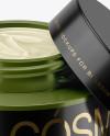 50ml Opened Matte Cream Jar Mockup (High-Angle Shot)